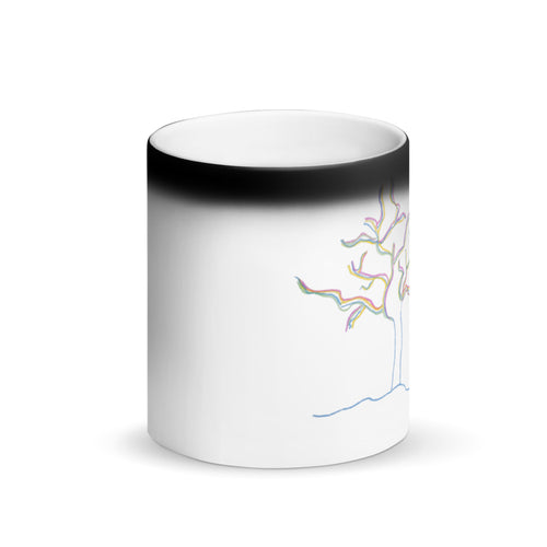 Color Tree by Kelly Waltz Matte Black Magic Mug