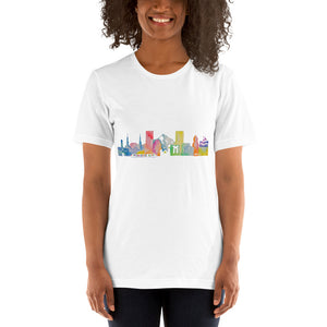 Portland OR Watercolor Short-Sleeve Unisex T-Shirt