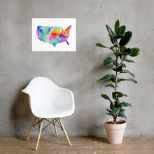 Load image into Gallery viewer, USA Watercolor Poster