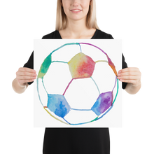 Load image into Gallery viewer, Rainbow Soccer Ball Poster