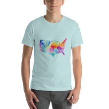 Load image into Gallery viewer, USA Watercolor Short-Sleeve Unisex T-Shirt