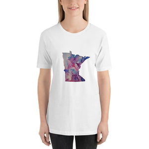 Minnesota Watercolor Short-Sleeve Unisex T-Shirt