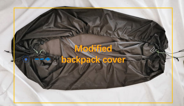 backpack cover set up
