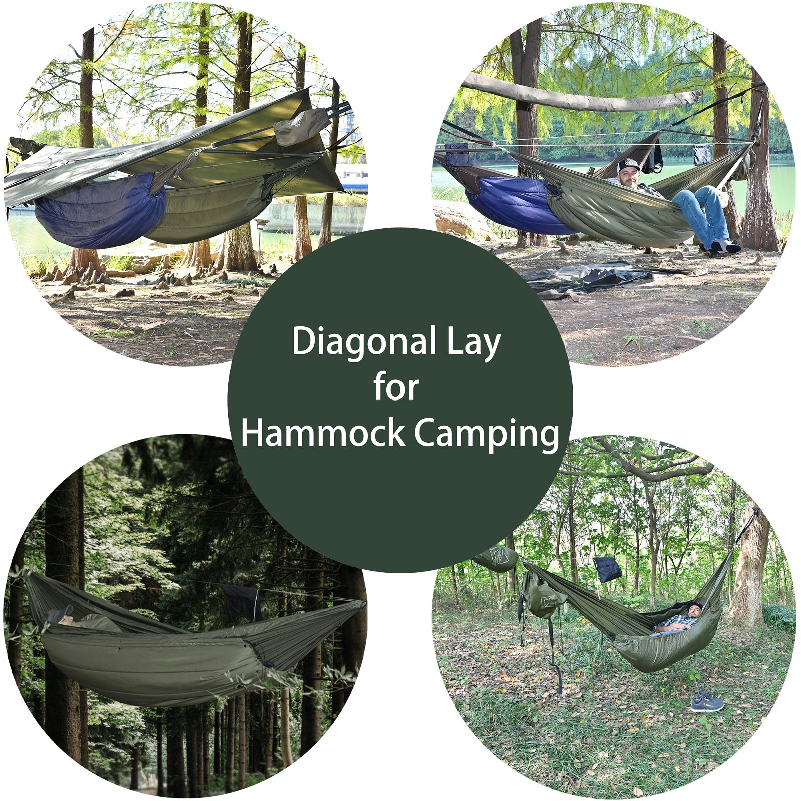 11' Double Hammock with Underquilt and 12' Silnylon Tarp Bundle