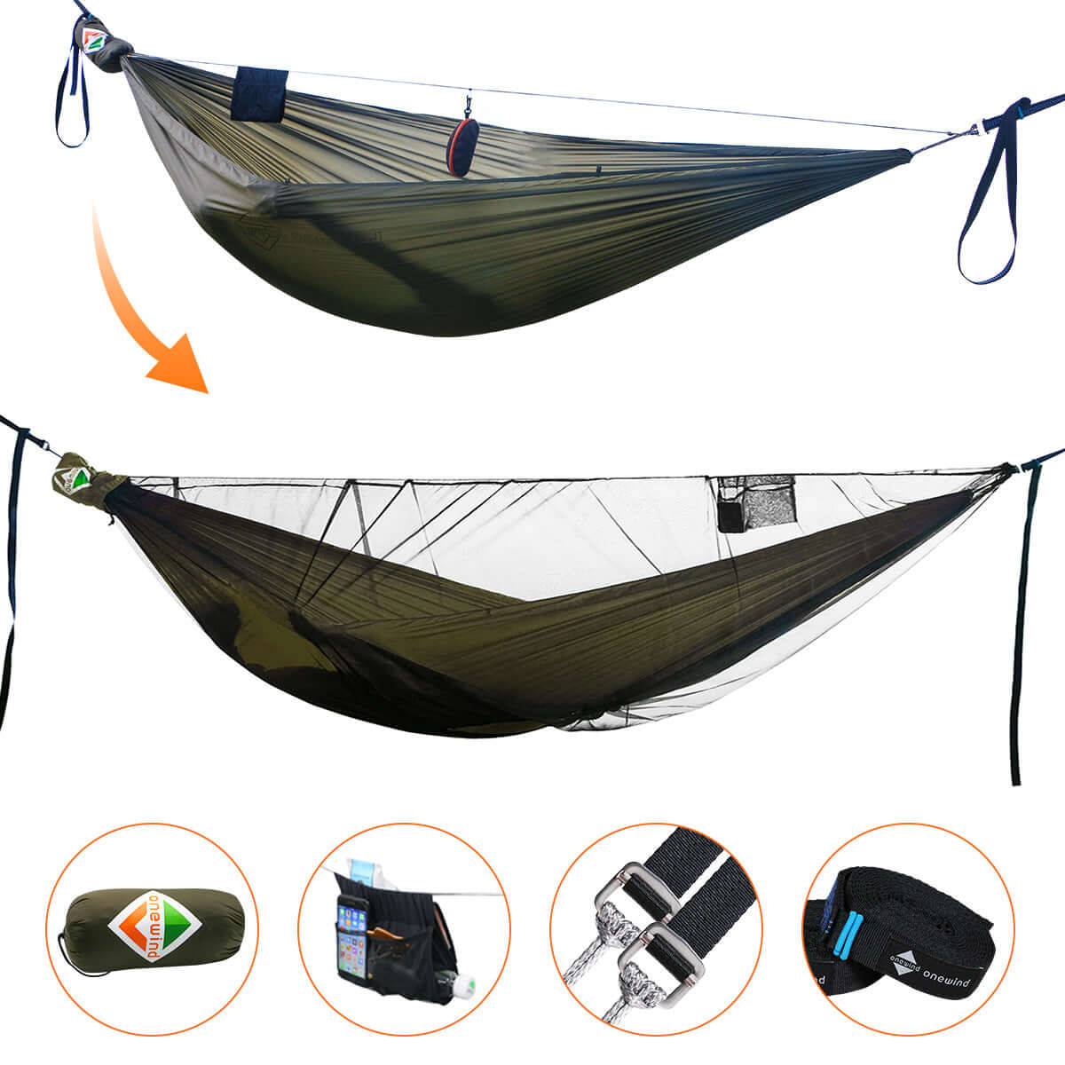 double hammock with straps