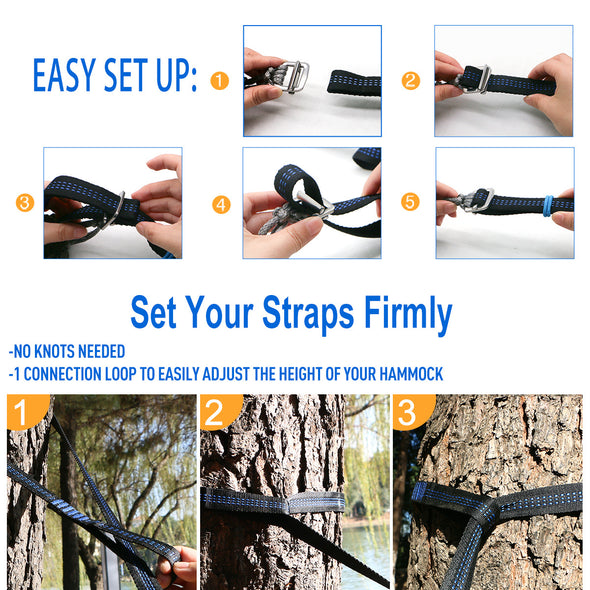 Onewind Hammock Tree Straps- Orange