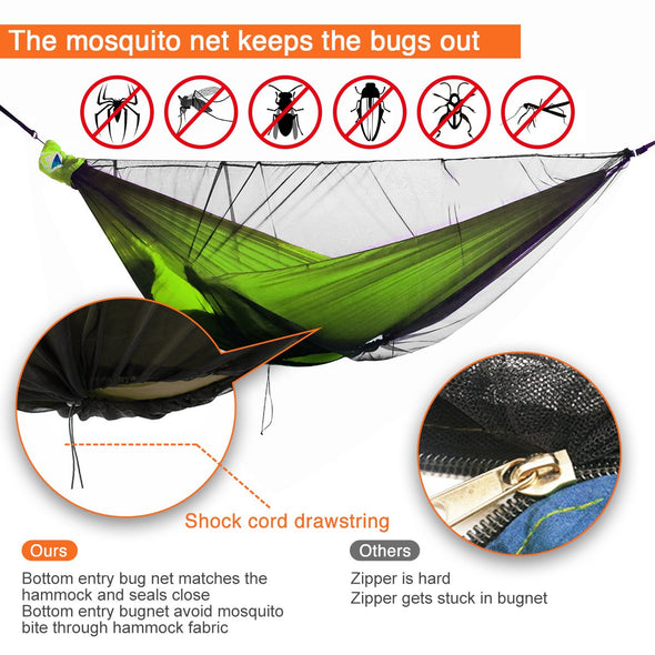 camping hammock with bug net