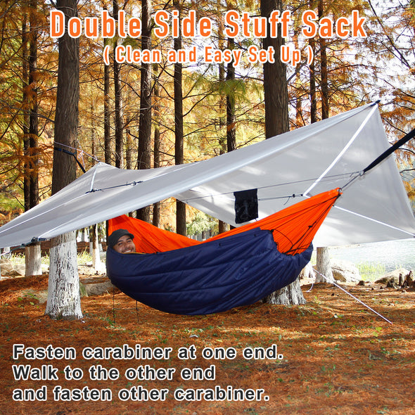 underquilt for double hammock camping