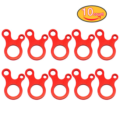 Onewind Aluminum Guy Line Tensioners  10Pack