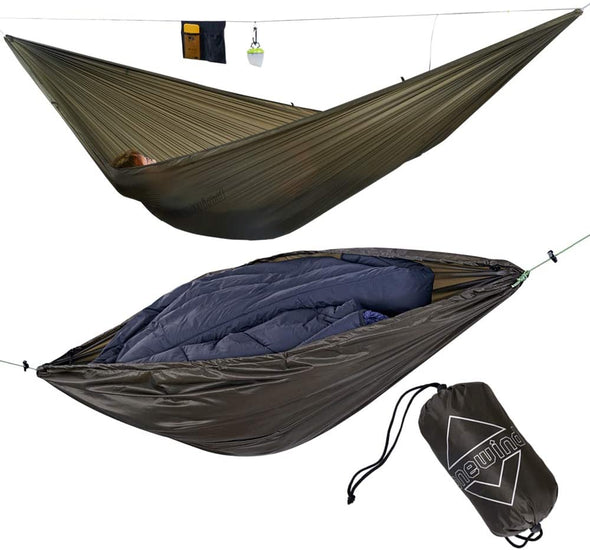 onewind 11'Single Camping Hammock with Backpacking Cover Gear Hammocks
