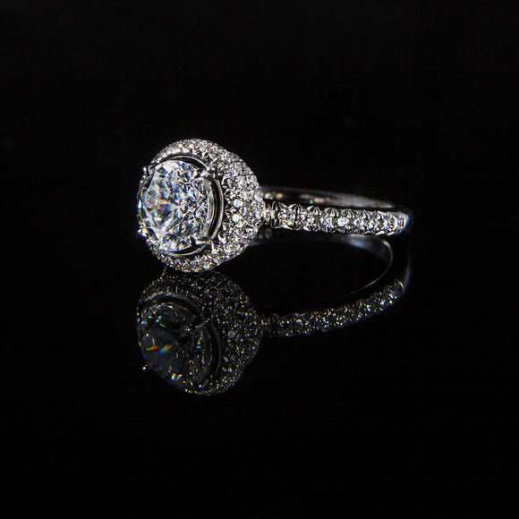 Halo Design Round Brilliant Engagement Ring