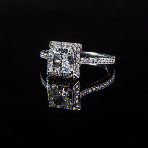 Princess Cut Platinum Engagement Ring