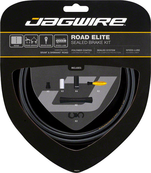 Jagwire Road Elite Sealed Brake Cable Kit Black