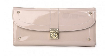 HARSON LOVE LOCK CLUTCH-LIGHT PINK
