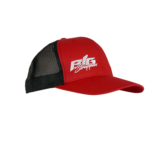Big Strappin' Trucker Snapback Black/Red