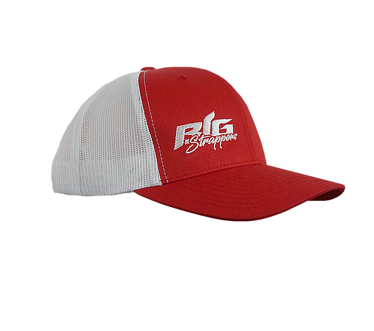 Big Strappin' Trucker Snapback Red/White