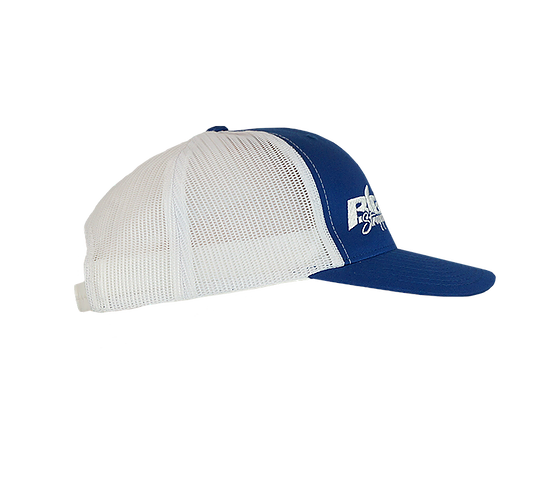 Big Strappin' Trucker Snapback Blue/White
