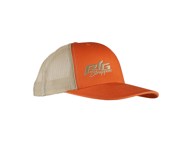 Big Strappin' Trucker Snapback Orange/Khaki