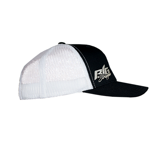 Big Strappin' Trucker Snapback Black/White
