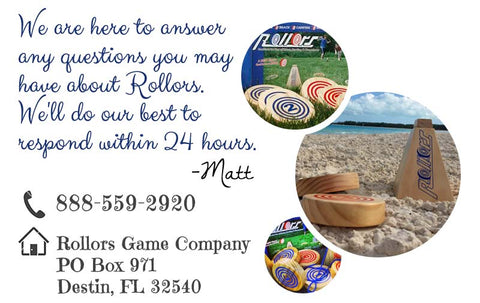 Contact us at the Rollors Game Company