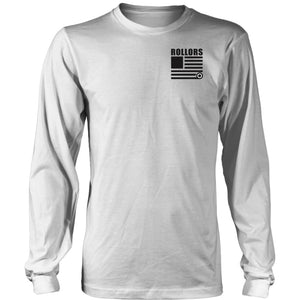 Long Sleeve - Merica - District Long Sleeve Shirt / White / S - T-shirt