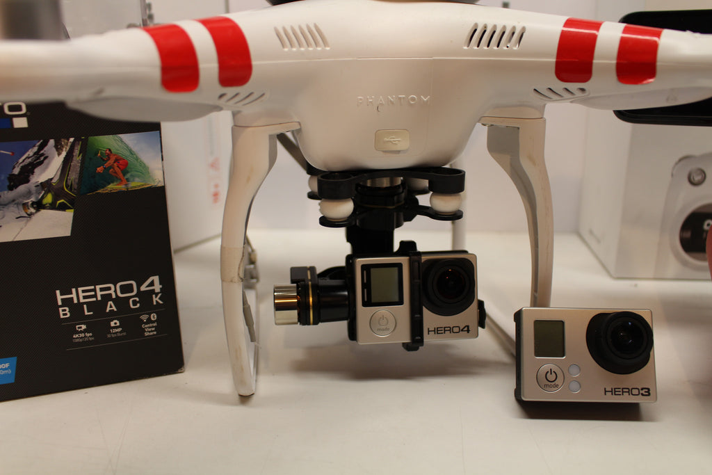 Zenmuse H4-3D Gimbal Modification for Mounting on the Phantom 2 Vision Plus UAV. Mount the GoPro Hero 4 on your Phantom 2 Vision+