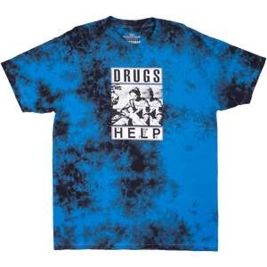 Drugs Help Tee (Tie Dye Blue)