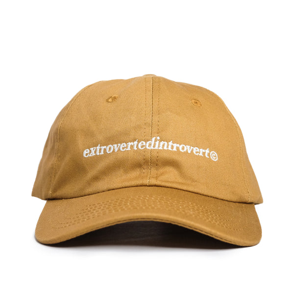Text Logo 6 Panel Cap (Khaki)