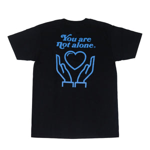You Are Not Alone Tee (Black)
