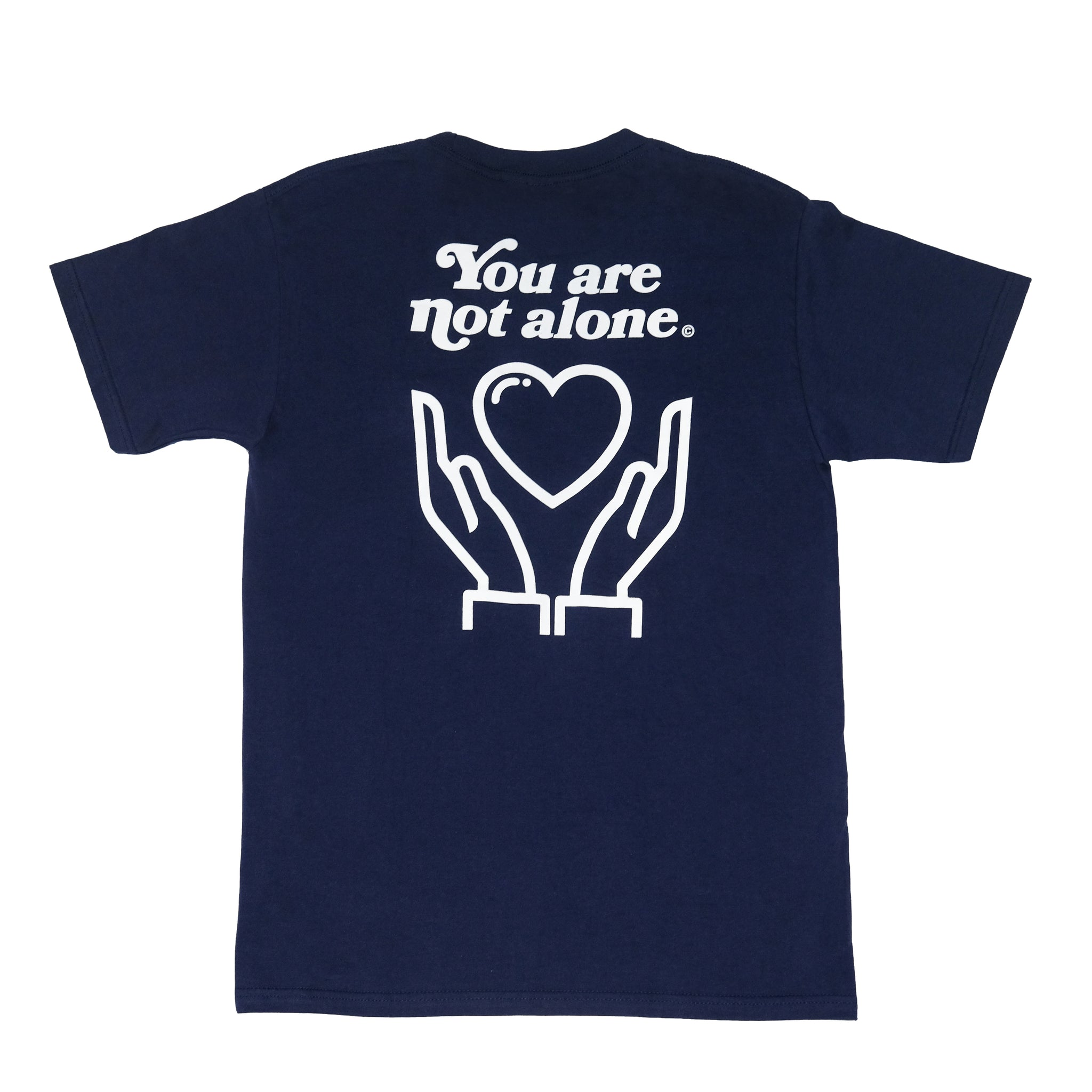 You Are Not Alone Tee (Navy)
