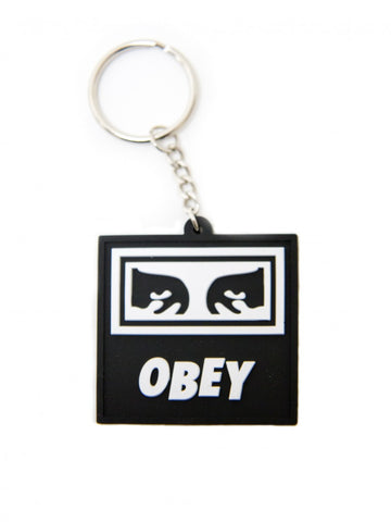 Icon Eyes Rubber Keychain (Black)