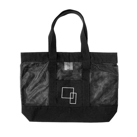 Meshed Record Tote Bag (Black)