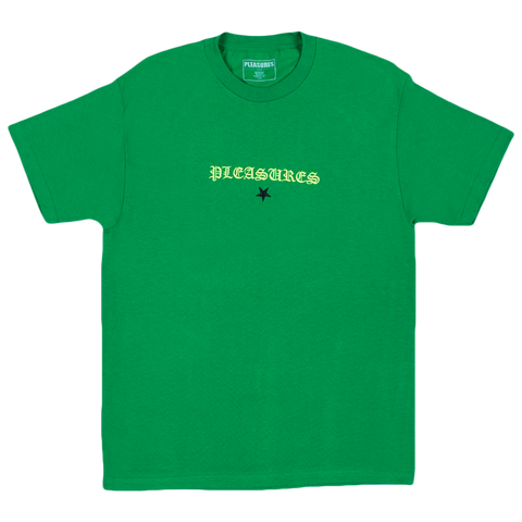 Shine Embroidered Tee (Green)