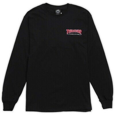 Embroidered Outline Longsleeve Tee (Black)
