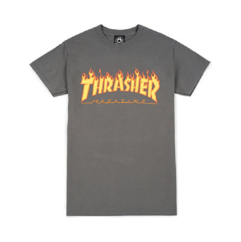 Flame Logo Tee (Charcoal Grey)