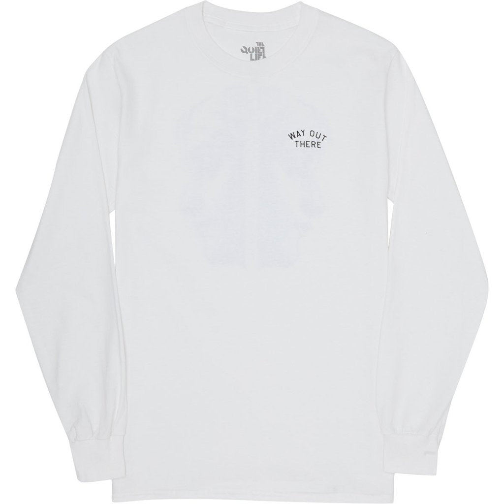 Way Out There LS Tee (White)