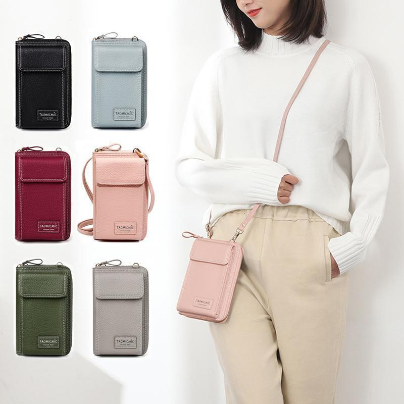 Fashion PU Leather Shoulder Bag Multifunction Phone Bag