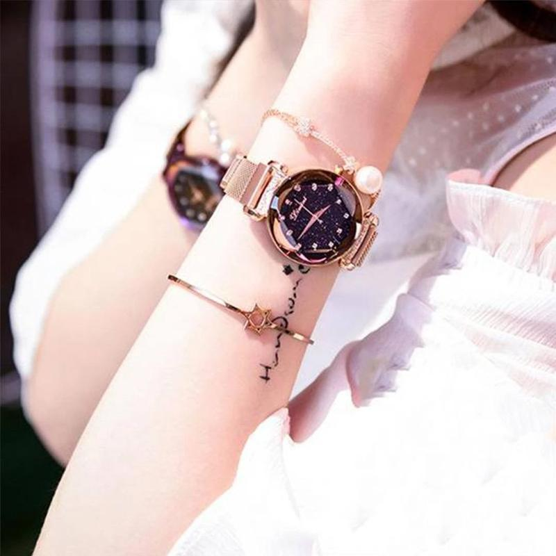 Nowsparkle™ Waterproof Starry Sky Girl Wristwatch