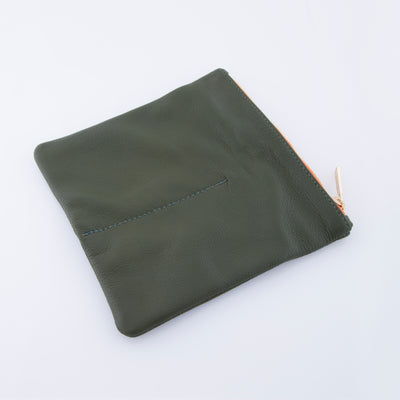 OLIVE GREEN LEATHER