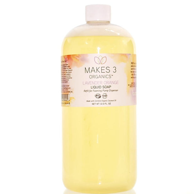 Lavender Orange Organic Liquid Soap Refill (32oz)