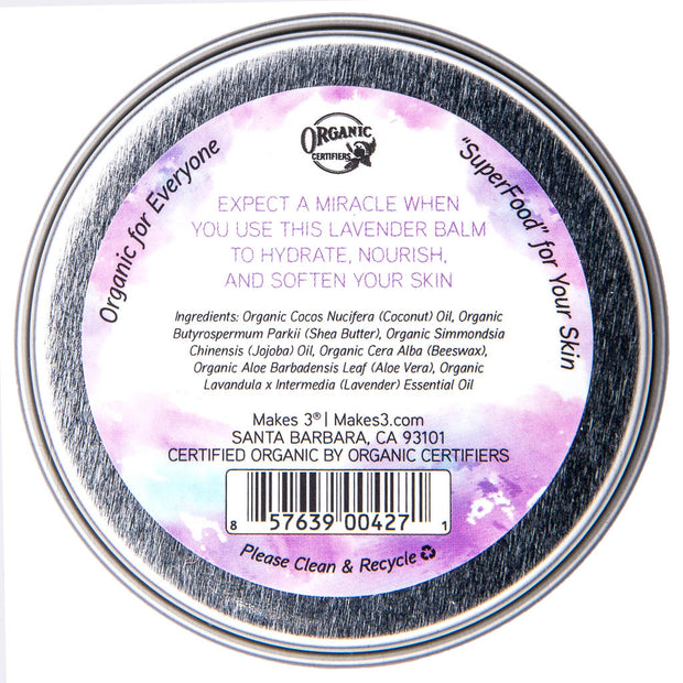 Lavender Organic Miracle Body Balm Tin