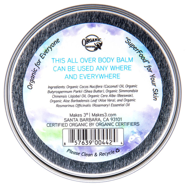 Unscented (Fragrance-Free) Organic All Over Body Balm