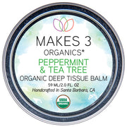 Peppermint & Tea Tree Organic Deep Tissue Balm