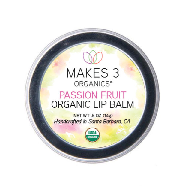 Passion Fruit Organic Lip Balm (0.5oz Tin)