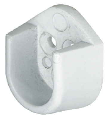 Rail End Support, for use with Oval Wardrobe Rails 15 mm Wide - Fixing King