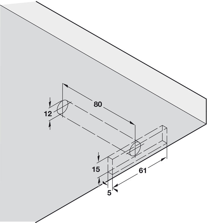 Concealed Shelf Support, Screw Fixing, for Installation into Woodwork or Masonry Walls