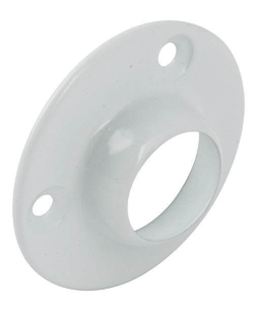 Rail Socket, Ø 19mm, Steel White