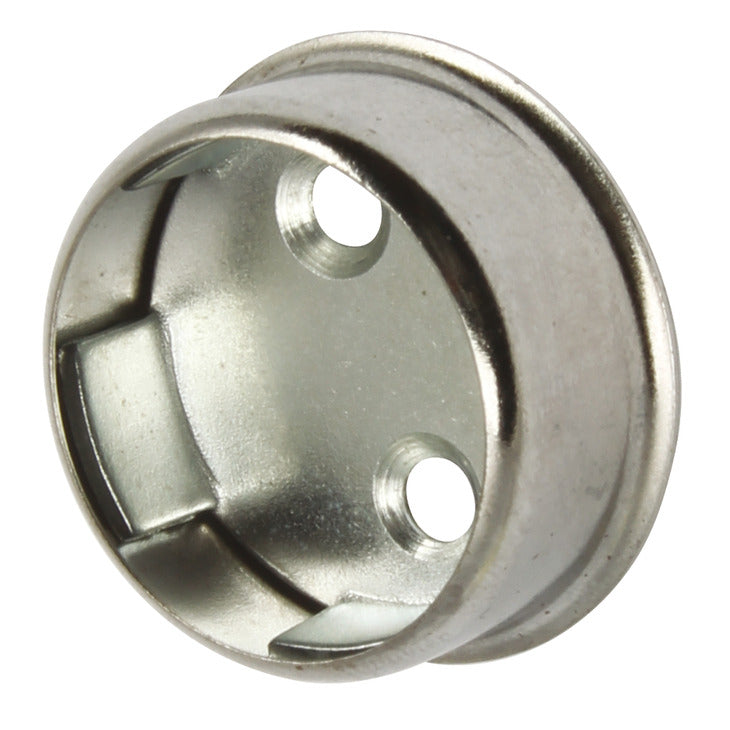 Wardrobe Rail Socket, for use with Ø 25 mm Wardrobe Rails Chrome - Fixing King