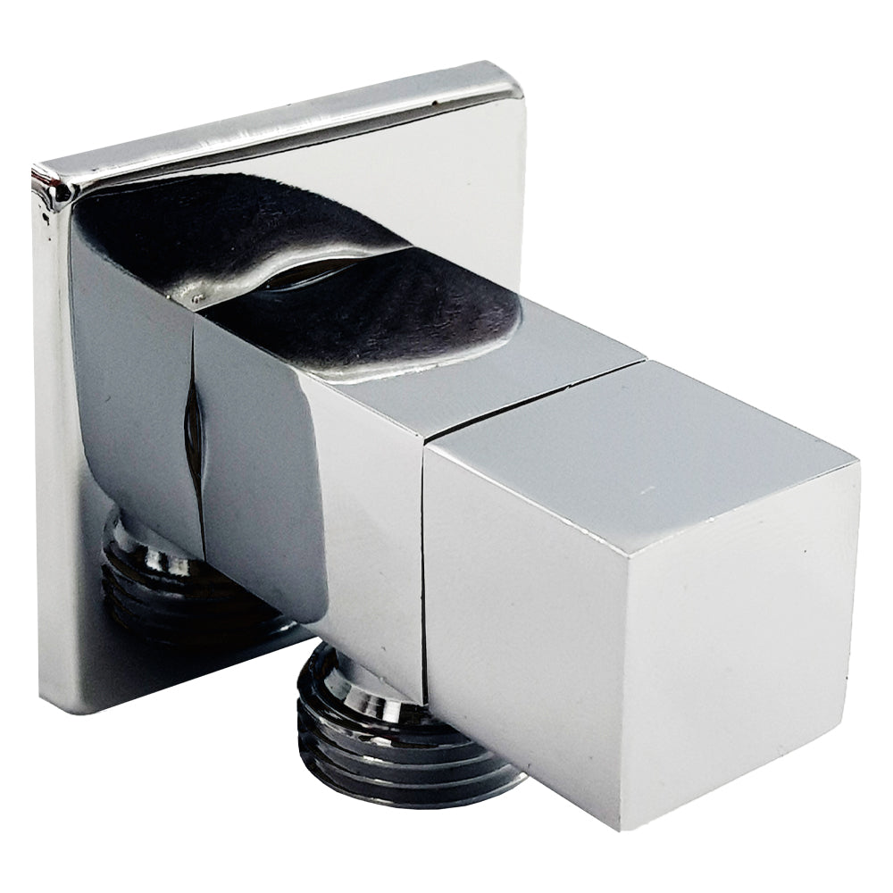 Aumix Quarter Turn ½ Inch Angle Shut Off Valve Douche Tap Outlet Bidet Spray Accessory - Square Design