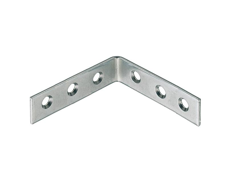 Corner L Braces Angle Brackets Zinc-Plated 100 x 100 x 18mm